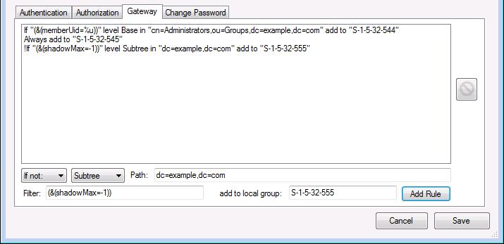 LDAP configuration