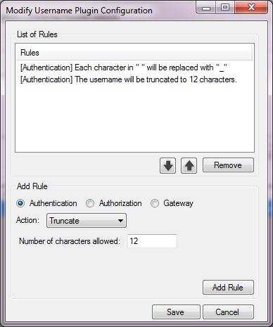 Username Modification Configuration
